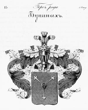 Герб рода Буниных .